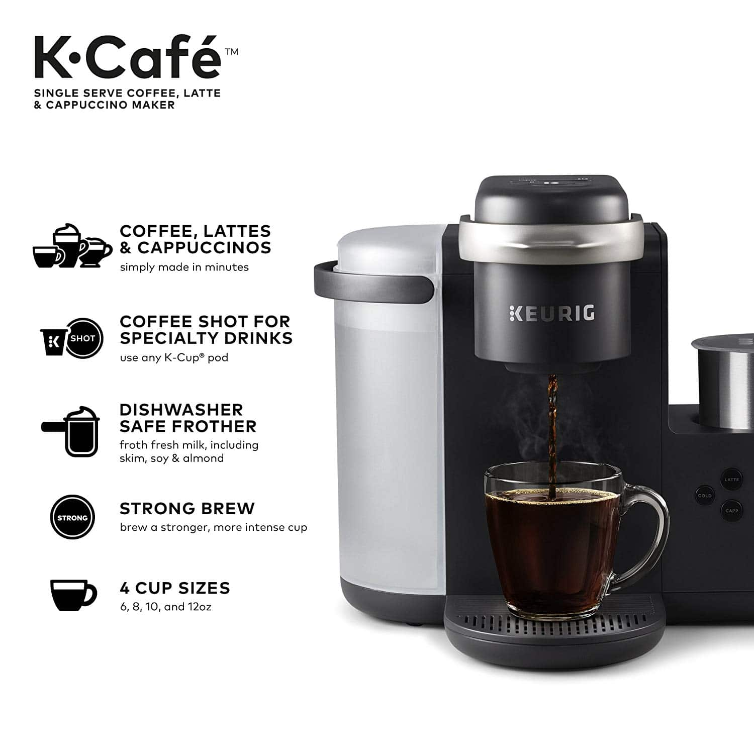 Keurig K-Cafe Single Serve Latte And Cappuccino Coffee