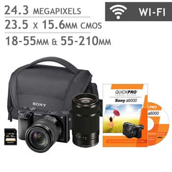 Sony a6000 Mirrorless Digital Camera 18-55mm and 55-210mm Lens ...