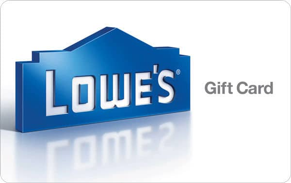 Lowes Gift card $100 for $91