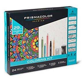 29-Piece Prismacolor Premier Pencils Adult Coloring Kit with Blender, Art Marker, Eraser, Sharpener & Booklet - $10.79 shipped with prime