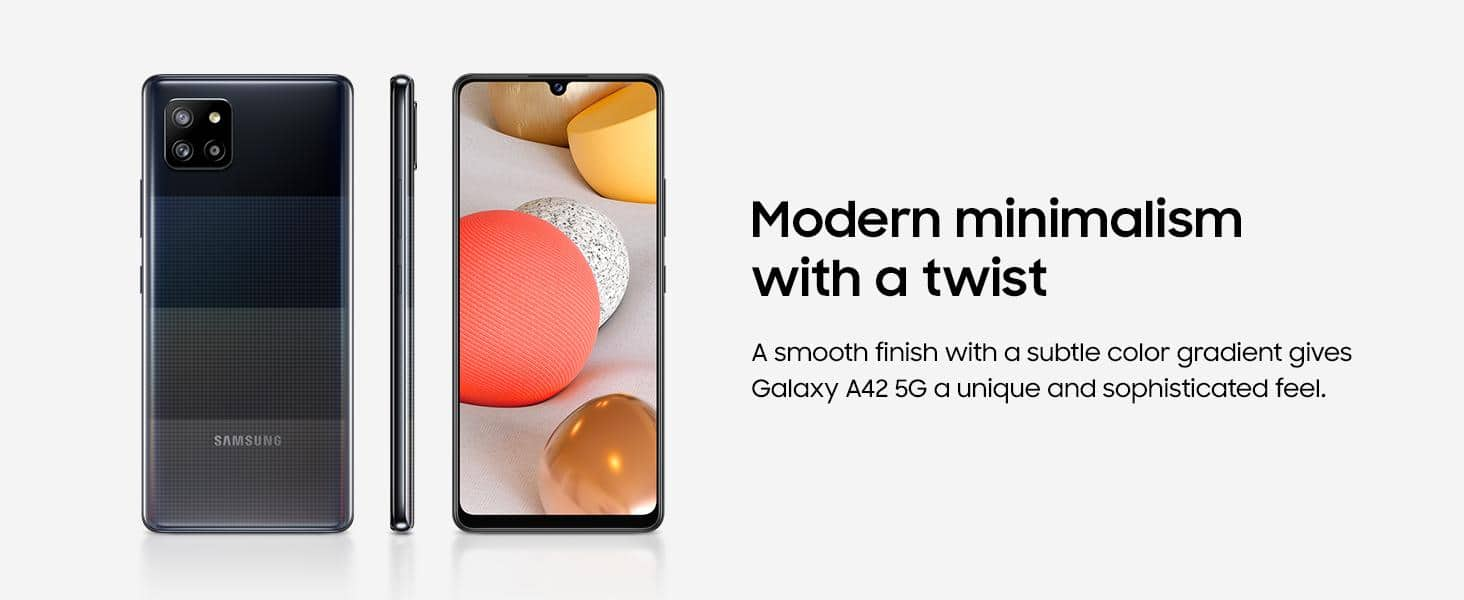 Prime day Samsung Electronics Galaxy A42 5G, Factory Unlocked Smartphone, Android Cell Phone, Multi-Lens Camera, Long-Lasting Battery, US Version, 128GB, Black $299.99
