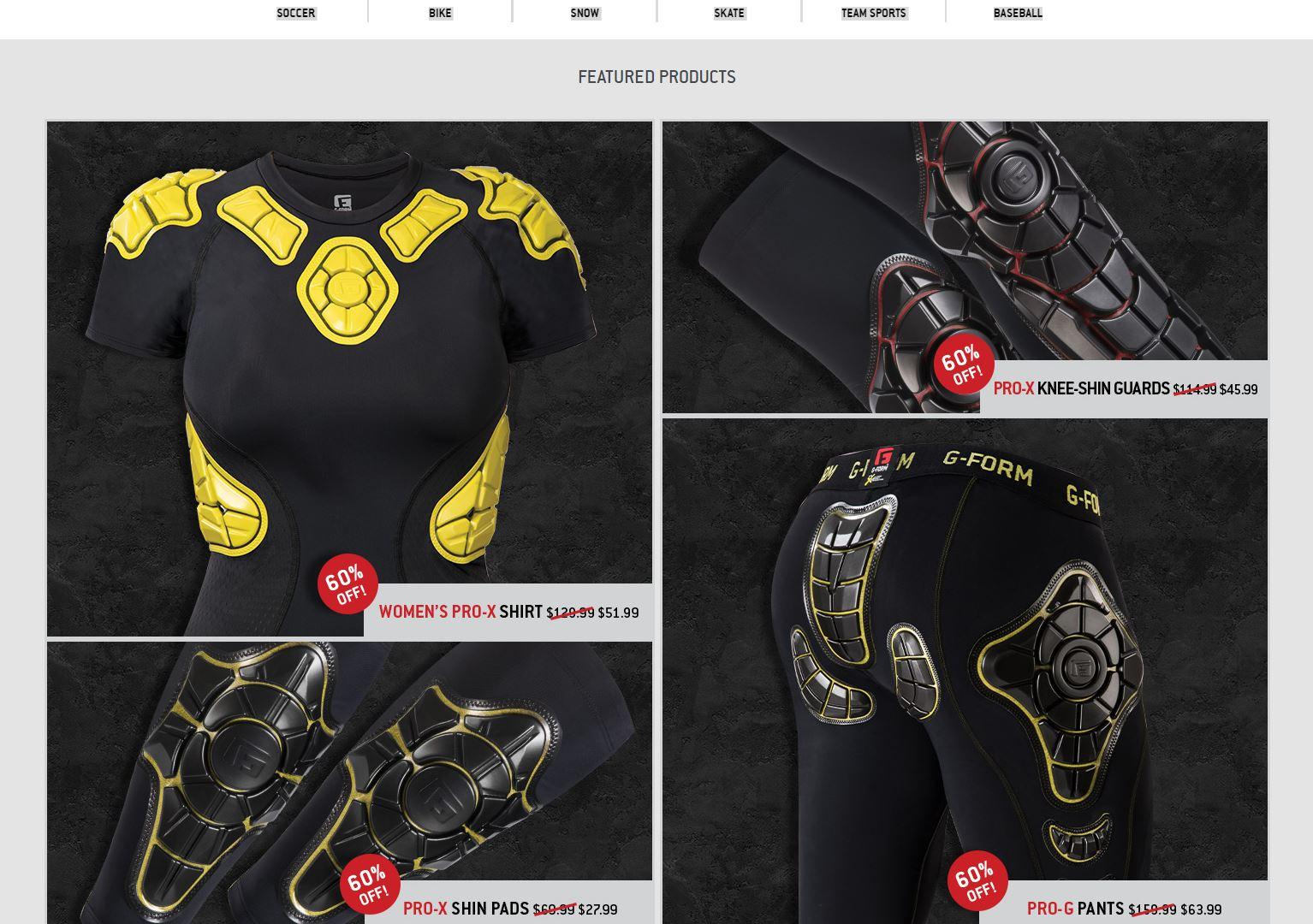 G-Form Body Armor on sale