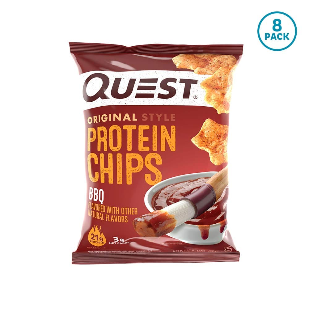 Quest Nutrition Bbq / Cheddar Sour Cream / Sour Cream Onion Protein Chips, Low Carb, Gluten Free, Potato Free, Baked, Pack of 8 FS w/ S&S $9.34