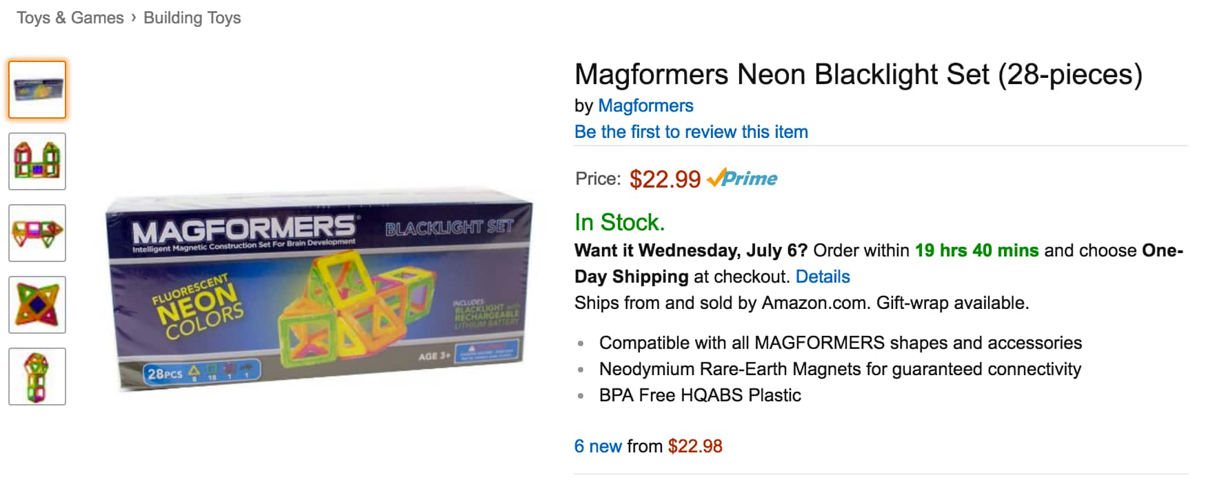 Amazon Prime: Magformers Neon Blacklight Set (28-pieces) deal is back: $22.99