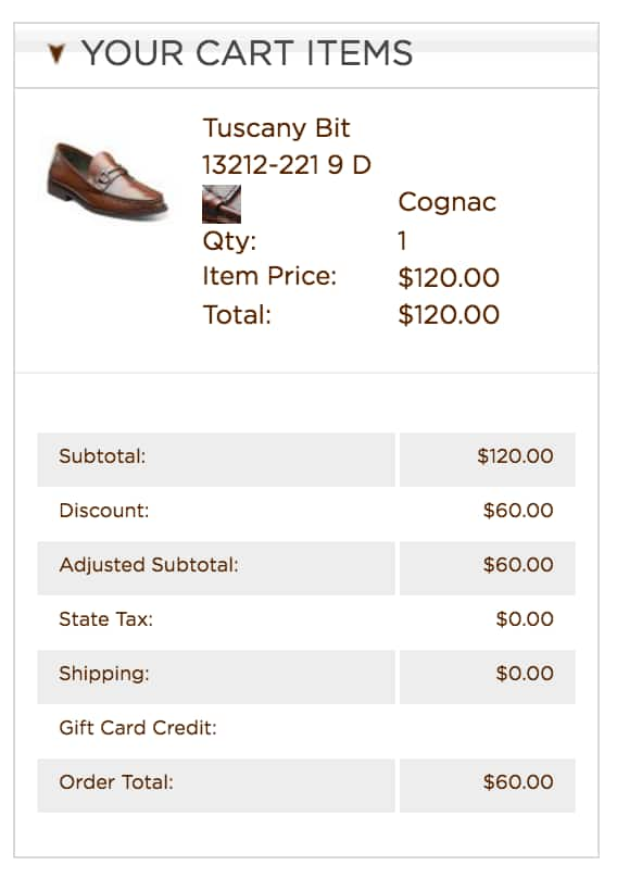 Florsheim shoes 50% off selected styles ($50-60 after discount) + free shipping