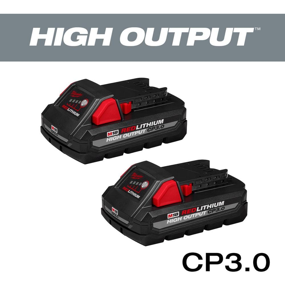 Milwaukee M18 18-Volt Lithium-Ion HIGH OUTPUT CP 3.0Ah Battery Pack (2-Pack) $99