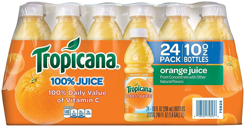 Tropicana Orange Juice, 10 Ounce (Pack of 24) $9.46