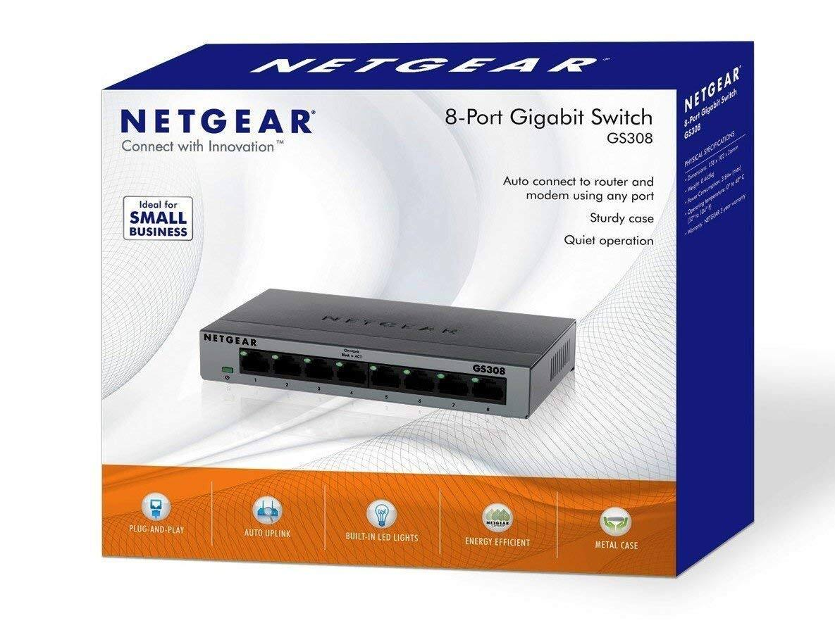 Netgear SOHO 8-Port Gigabit Ethernet Switch $19.99