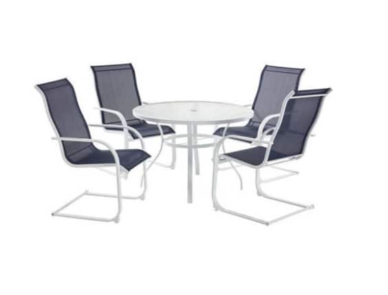 Mainstays Bristol Springs 5 Piece Dining Set Navy Blue