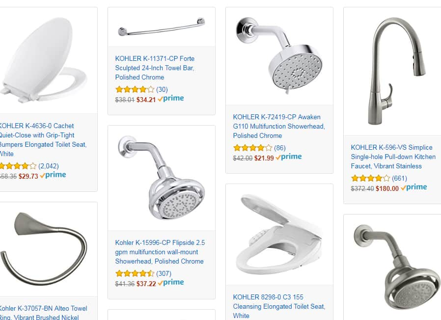 Save up to 53% on Kohler Kitchen, Bath and more