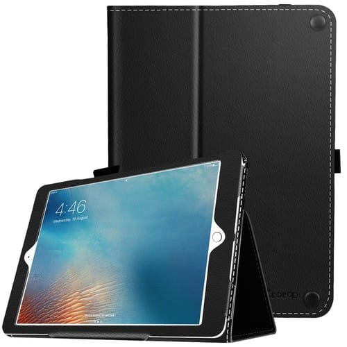iPad 9.7 Inch 2018/2017 Case,Premium PU Leather Smart Cover with Wallet & Credit Card Slot $10.99 at amazon