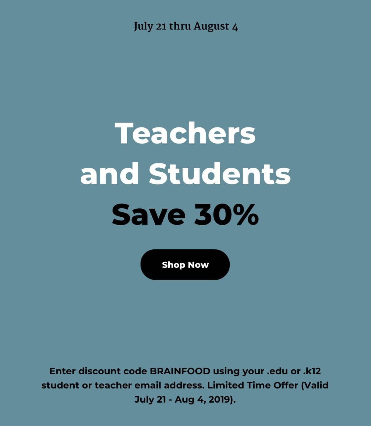 30% Off for Teacher and Students with code .edu or .k12 address at Patagonia.com or in store
