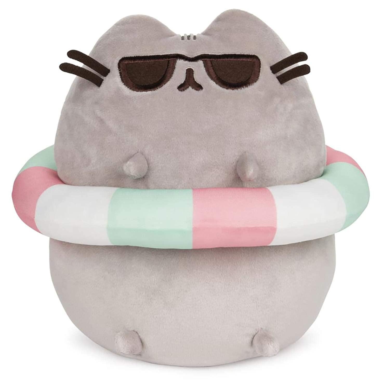 "GUND Pusheen in Striped Tube and Sunglasses Plush Stuffed Animal Cat, 9.5"" $11.93"