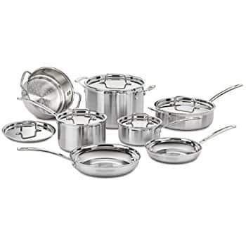 Cuisinart MCP-12N Multiclad Pro Stainless Steel 12-Piece Cookware Set $162.49 @ Amazon