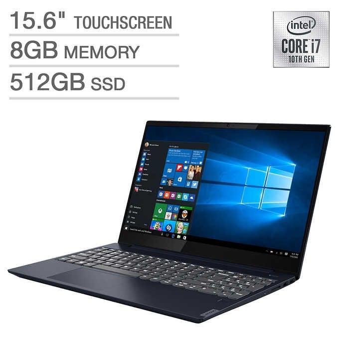 "Lenovo IdeaPad S340 15.6"" Touchscreen Laptop - 10th Gen Intel Core i7 - 1080p IPS 512 GB SSD 8GB RAM $599 @ Costco.com"