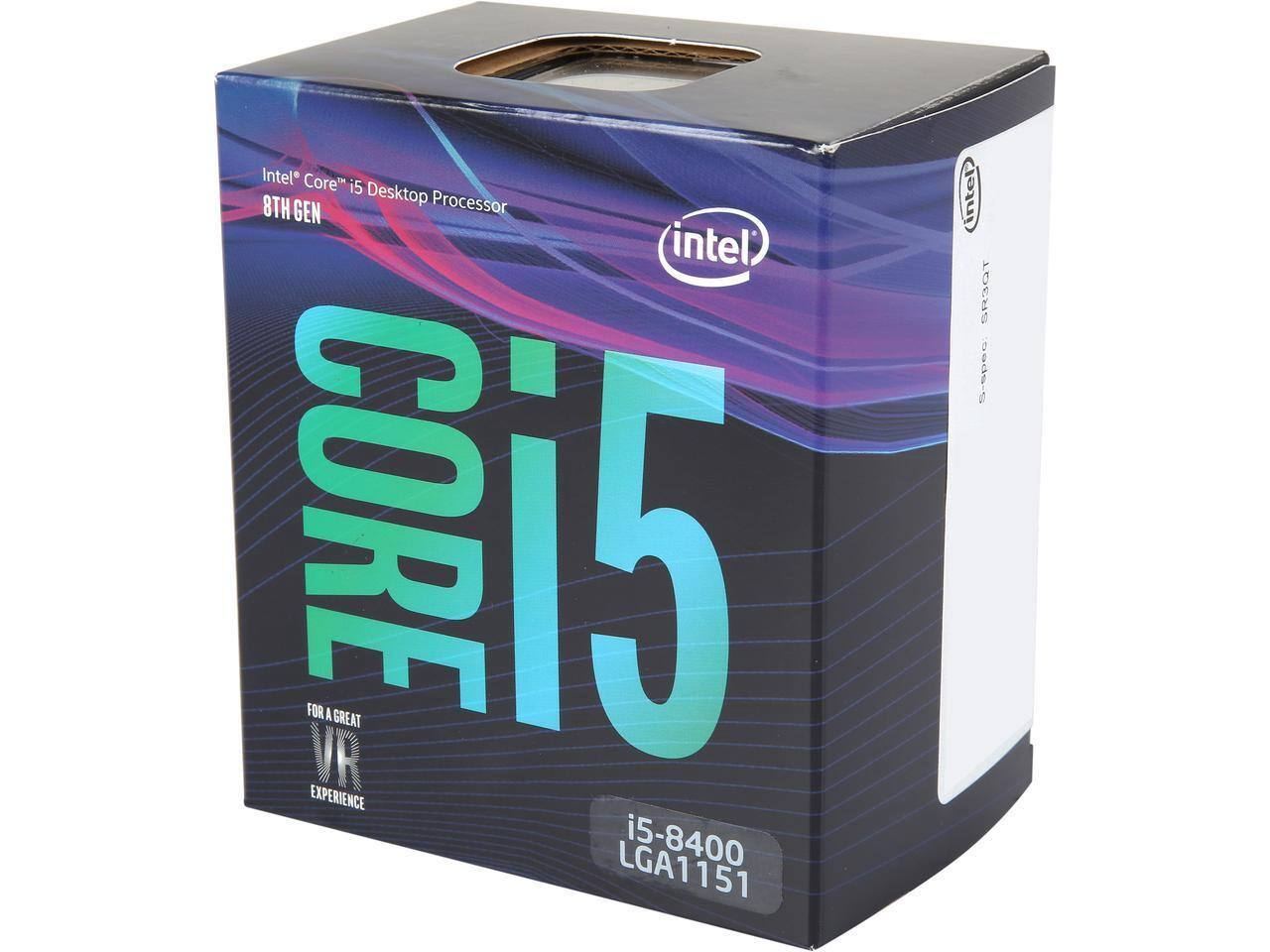 Intel Core i5-8400 Coffee Lake 6-Core 2.8 GHz (4.0 GHz Turbo) LGA 1151 (300 Series) 65W BX80684I58400 Desktop Processor Intel UHD Graphics 630 $164.99