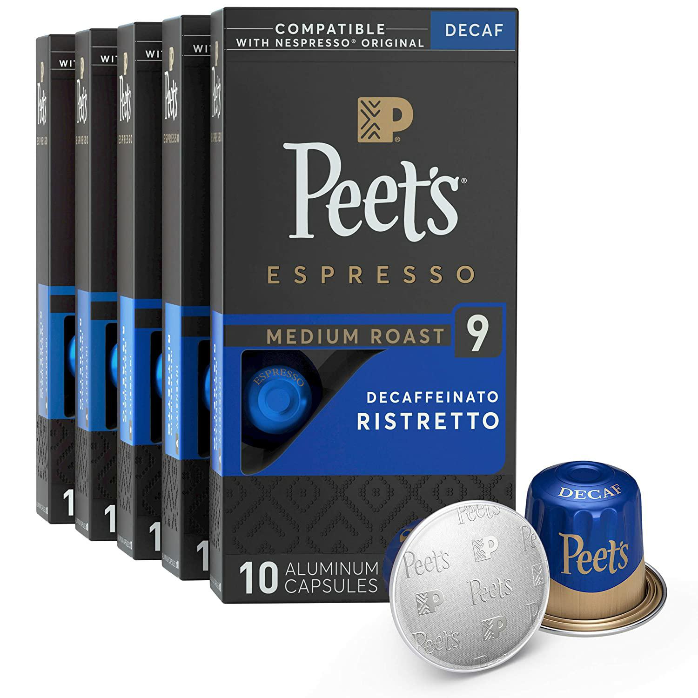 50 Count Peet's Espresso Decaffeinated Nespresso Pods at Amazon $14.63