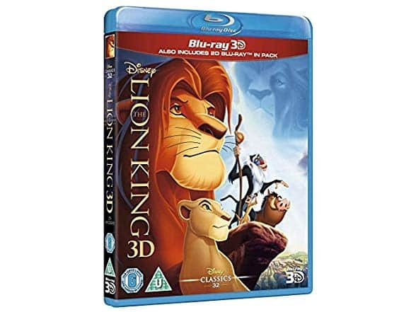 Disney's The Lion King (3D Blu-Ray + Blu-Ray) [Region Free] $8.99 + Free Standard Shipping for Amazon Prime Members