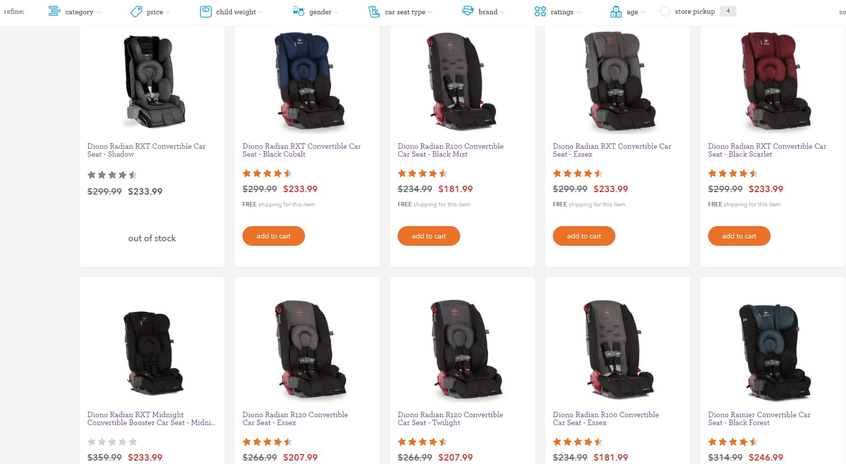 Diono Carseats 21-33% Off, Free Shipping $181.99