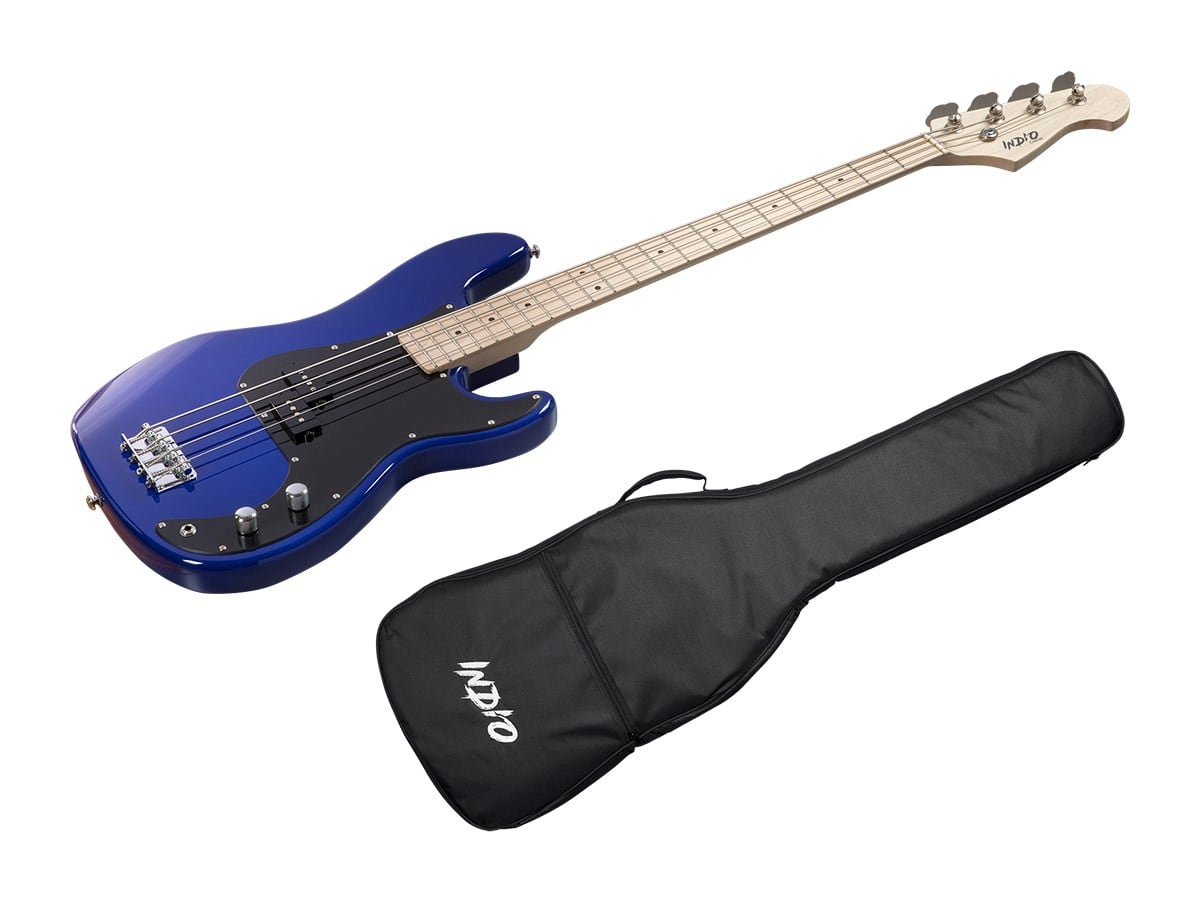 Electric Bass Guitar Starter Pack At Monoprice With 20 Watt Amp