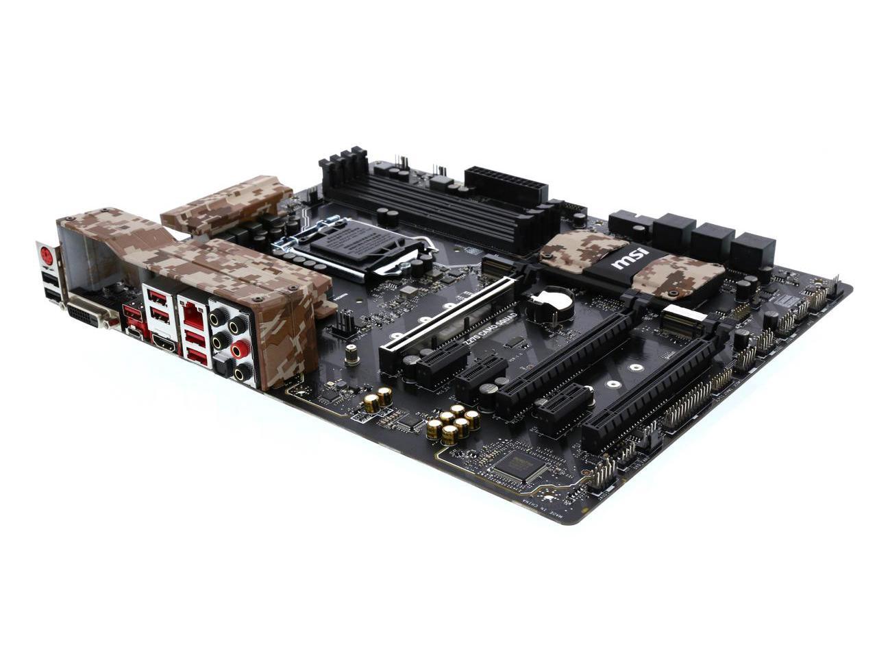 MSI Z270 CAMO SQUAD LGA 1151 Intel Z270 HDMI USB 3.1 ATX Intel Motherboard Newegg $99 AR AC