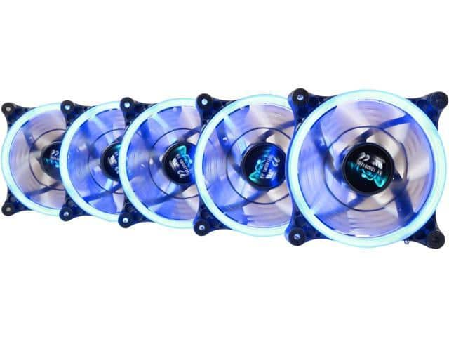 Apevia Case Fans 120mm assorted colors Ring LEDs $3.5 each FS (in packs of 3 or 5) @ Newegg $4