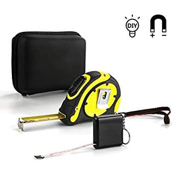Jellas 25ft Professional Magnetic Tape Measure and 60-inch Soft Measuring Tape, Metric and Inches, Case for storage $8.49 Amazon