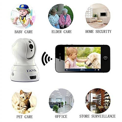 Baby Monitor Dog Camera Wireless HD IP Camera Home Security Cam With Night Vision WiFi (White) $19 @ Amazon $19.01