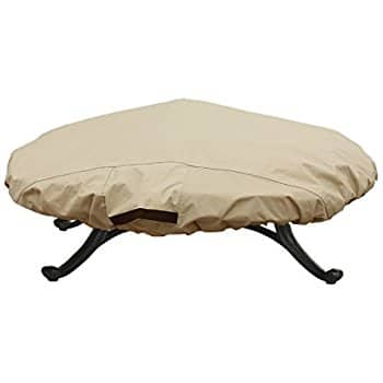 Waterproof Round 600D Heavy Duty Patio Fire Pit / Table Cover (Up to 44 inch, Round Top) $7.90 @ Amazon