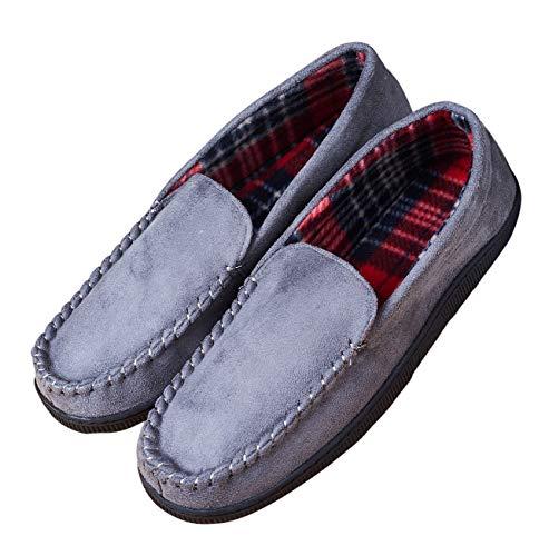 Men's Anti-Slip Indoor/Outdoor Microsuede Moccasin Slippers with Hardsole $8 AC FS @ Amazon