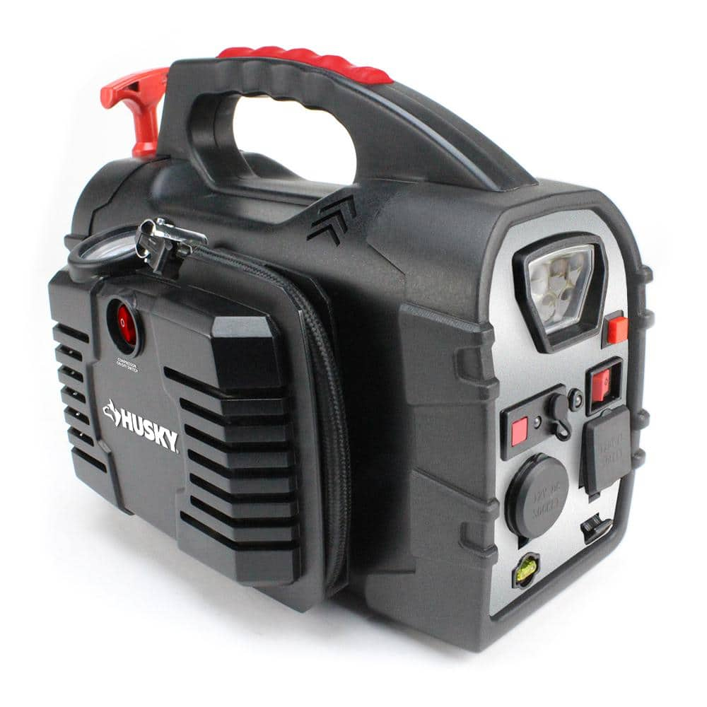Husky 8 in 1 portable jump starter with hand generator, $20 ymmv at Home Depot