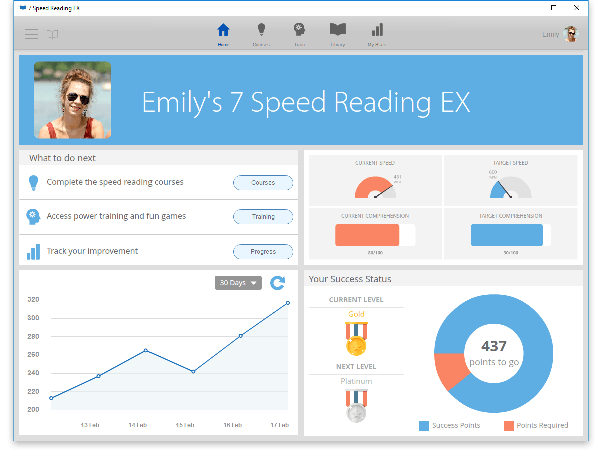 7 Speed Reading EX 2017 + Spreeder CX: Lifetime License $6