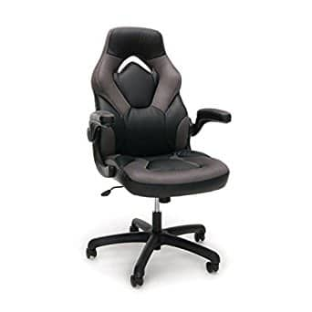 OFM Essentials Leather Racing Style Gaming Chair - Grey $69 + free shipping