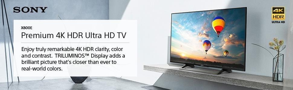 Sony XBR55X800E 55-Inch 4K Ultra HD Smart LED TV $798