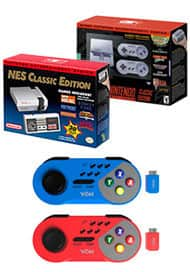 Nintendo NES Classic, SNES Classic, and YoK Wireless Controllers Bundle $170