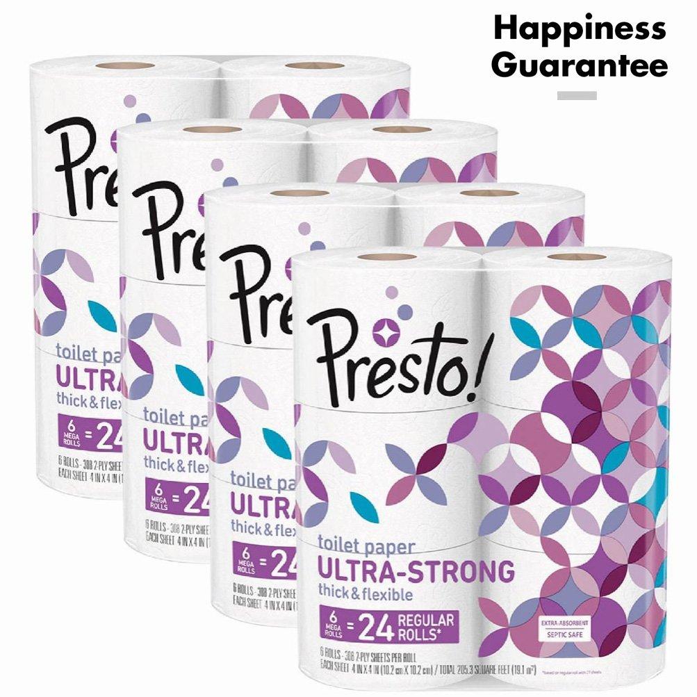 Amazon Brand Presto Toilet paper $10 w/ 5% S&S or $7.78 w/ 15% S&S