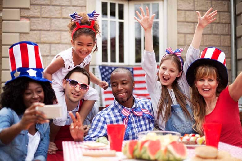 Two family on Independence Day