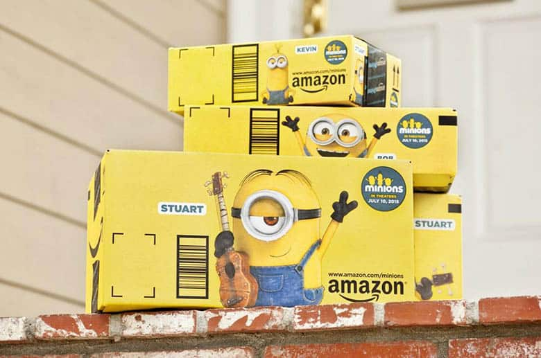 Amazon Minions boxes