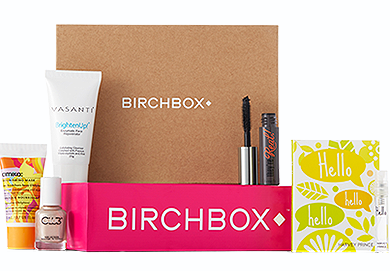 Birchbox with makeup