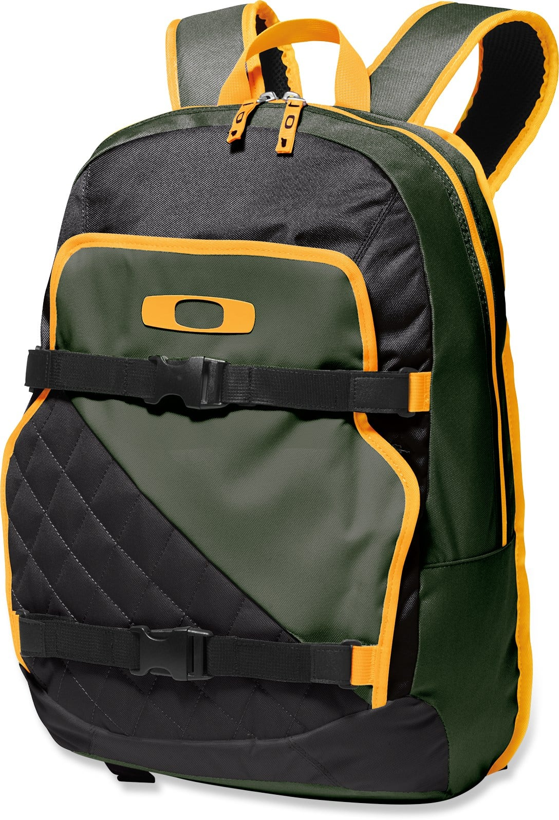 green and black backpack