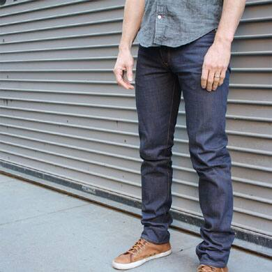 Men's indigo jeans