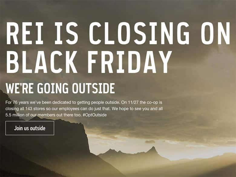 REI Closed on Black Friday