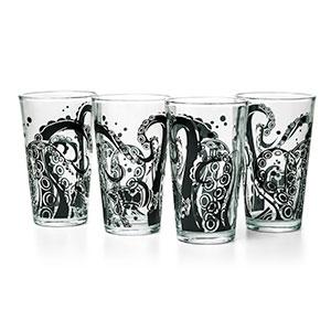 Tentacle pint glasses