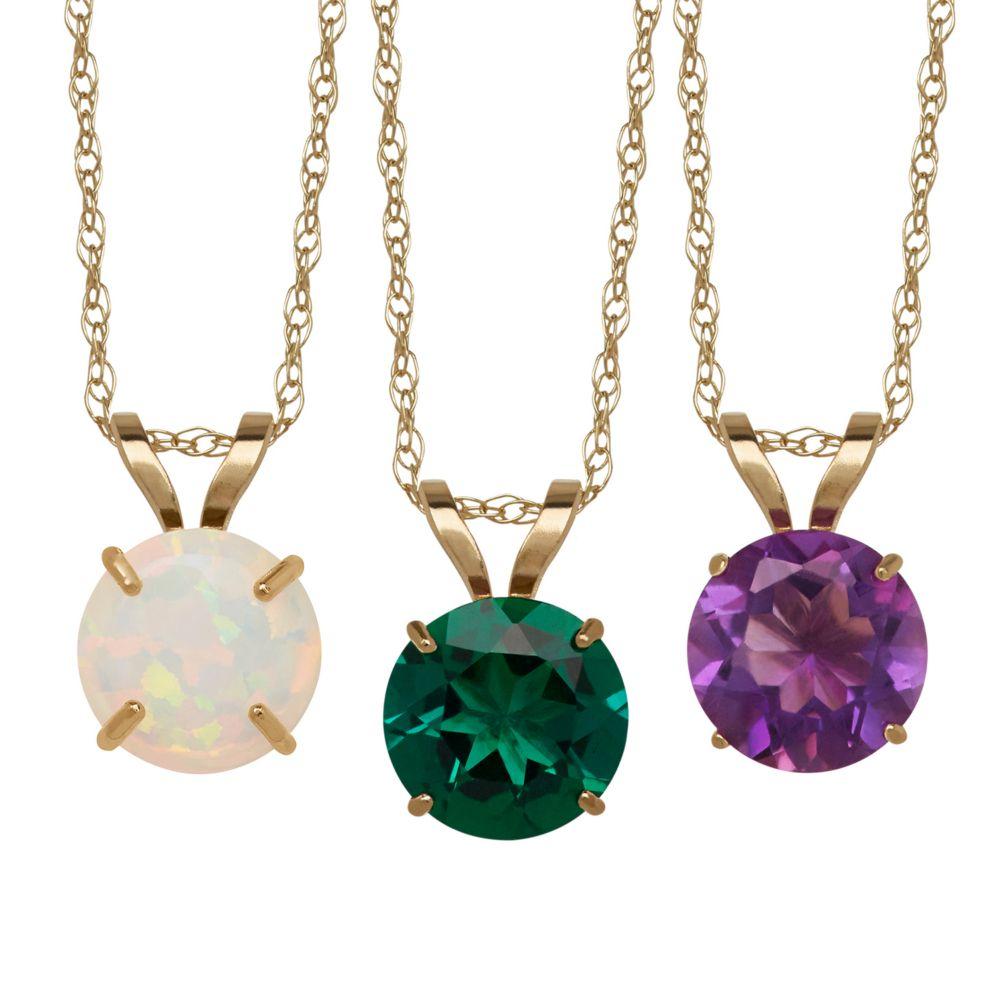 Everlasting Gold Gemstone Necklaces