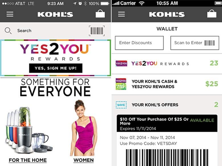 Save more money at Kohl's using their app.