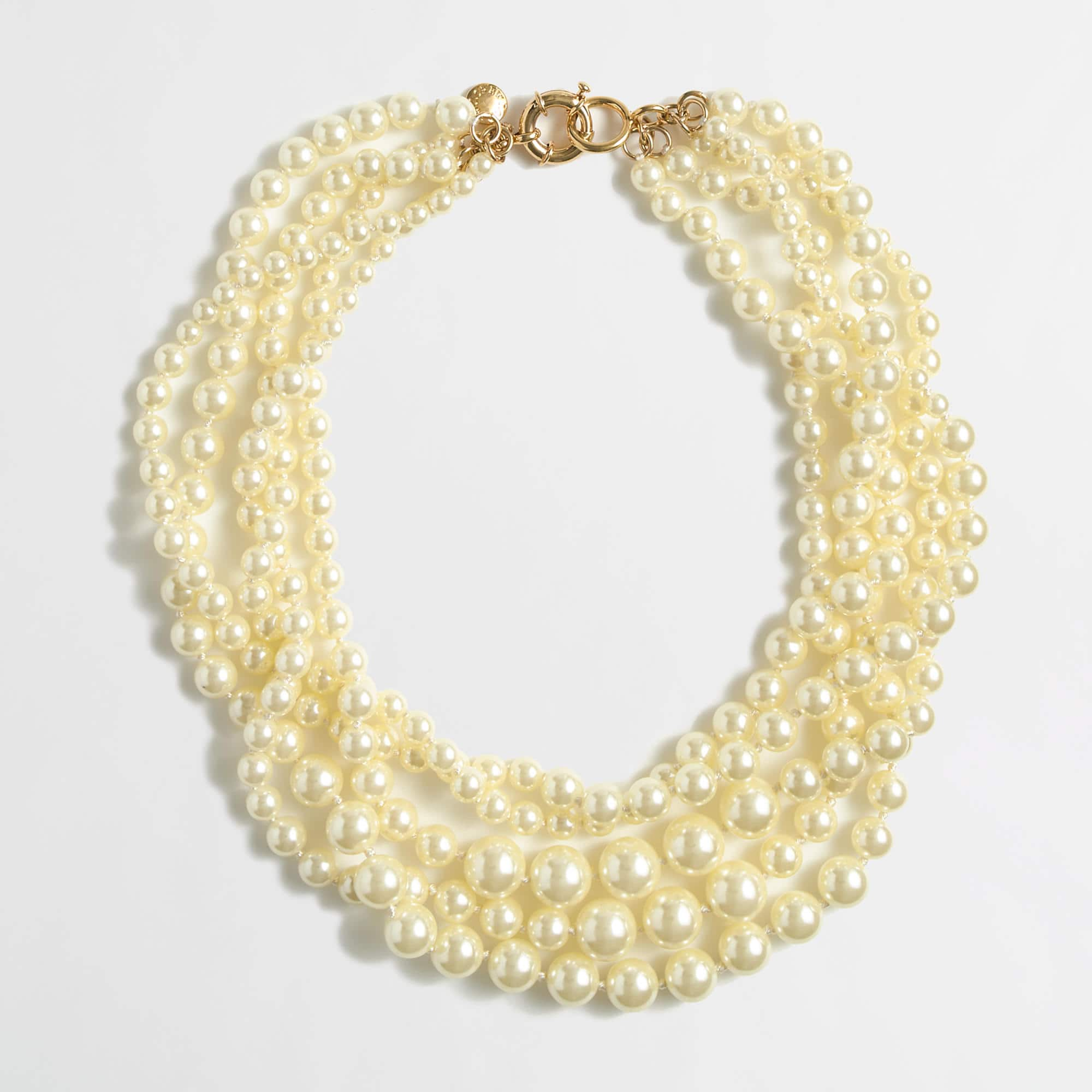 J.Crew Factory Multi-Strand Pearl Necklace