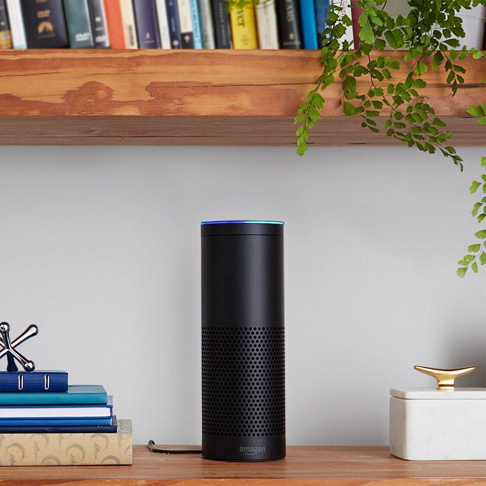 Amazon Echo on a table