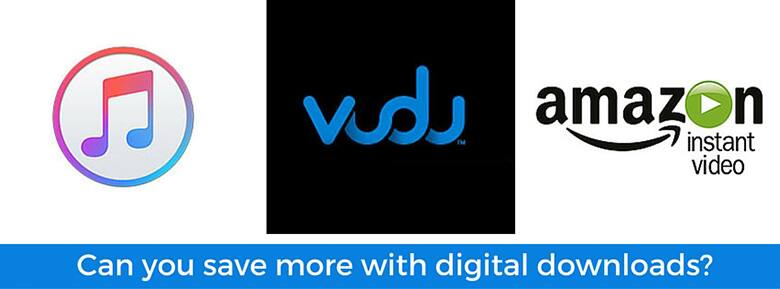 vudu amazon vieo and itunes logos