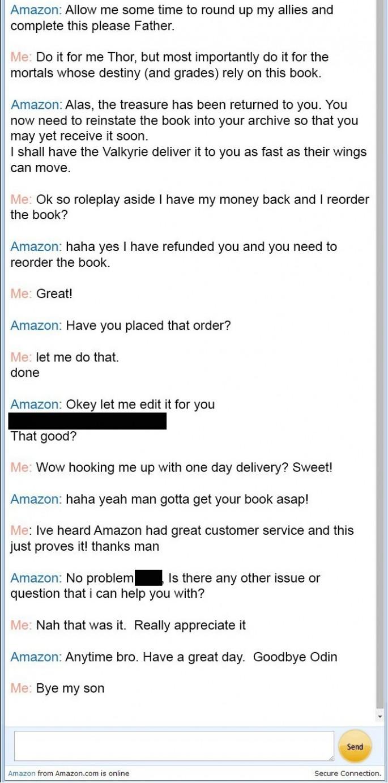 Thor Amazon customer service