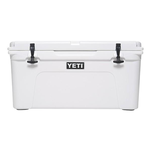 white YETI cooler